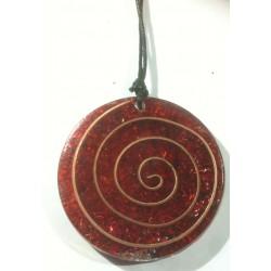 Colgante espiral grande rojo