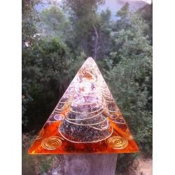 Orgonite tetraedro fuego