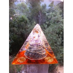 Tetraedro fuego cuarzo maestro