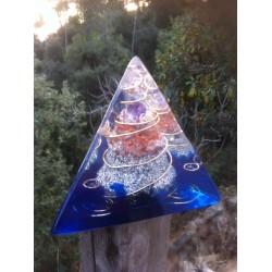 Orgonite tetraedro agua