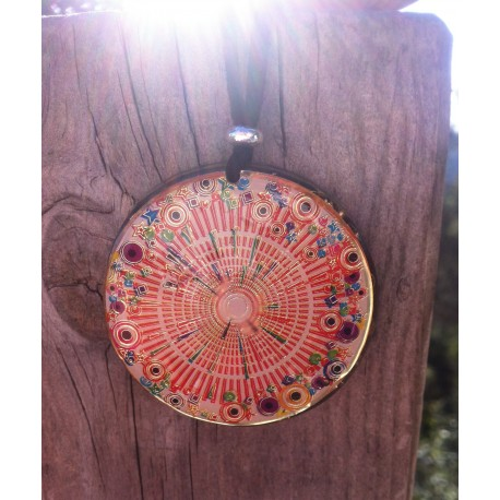 Colgante orgonita Mandala solar grande