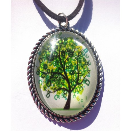 Colgante árbol de la vida verde abundancia