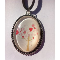 Colgante árbol de la vida corazones
