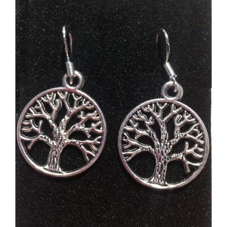 Pendiente cierre plata 925 árbol de la vida