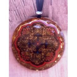 Colgante orgonita Mandala cruz