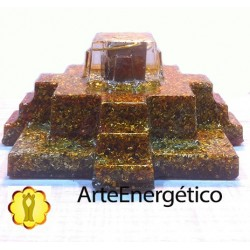 Orgonita Pirámide templo Maya pirita