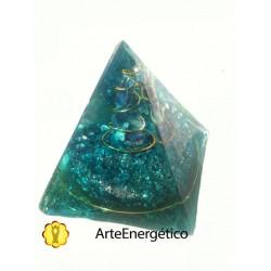 Pirámide turquesa Orgonite